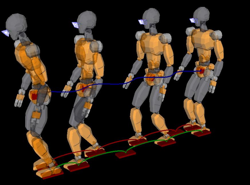 Humanoid model JVRC-1 walks dynamically