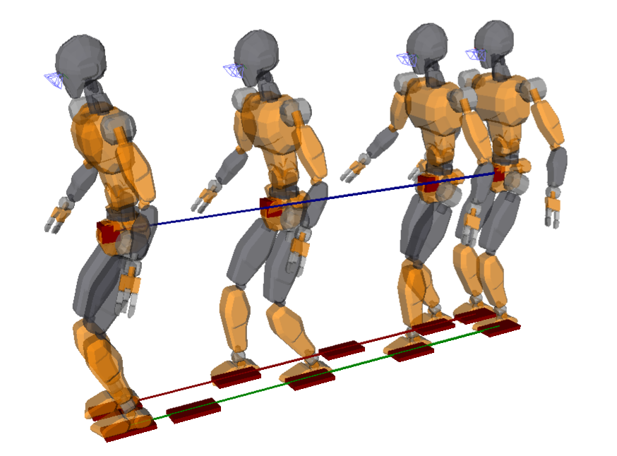 This simple finite-state machine makes the legged robot shuffle its feet