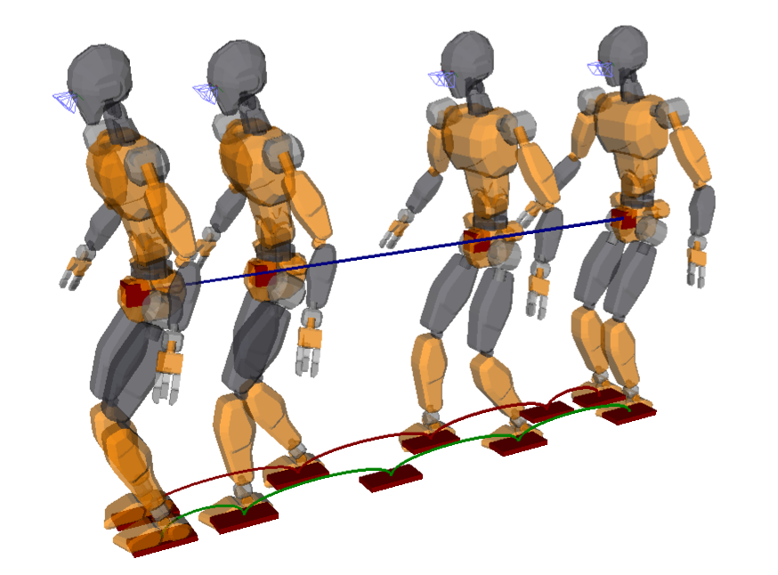 Now the legged robot swings its feet properly between footsteps