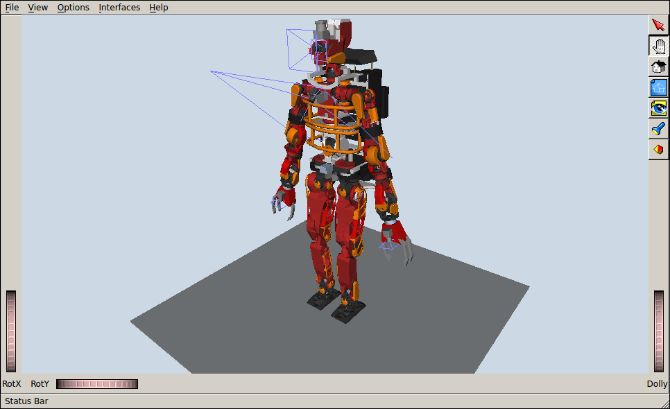 JAXON humanoid model in OpenRAVE