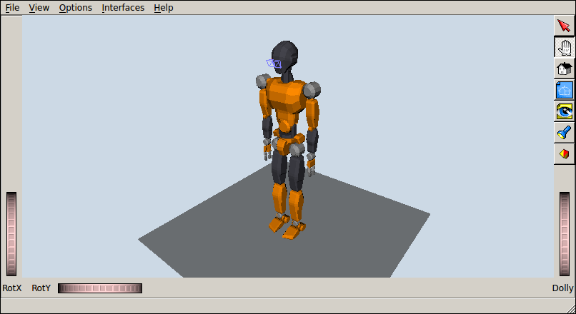 JVRC-1 humanoid model in OpenRAVE