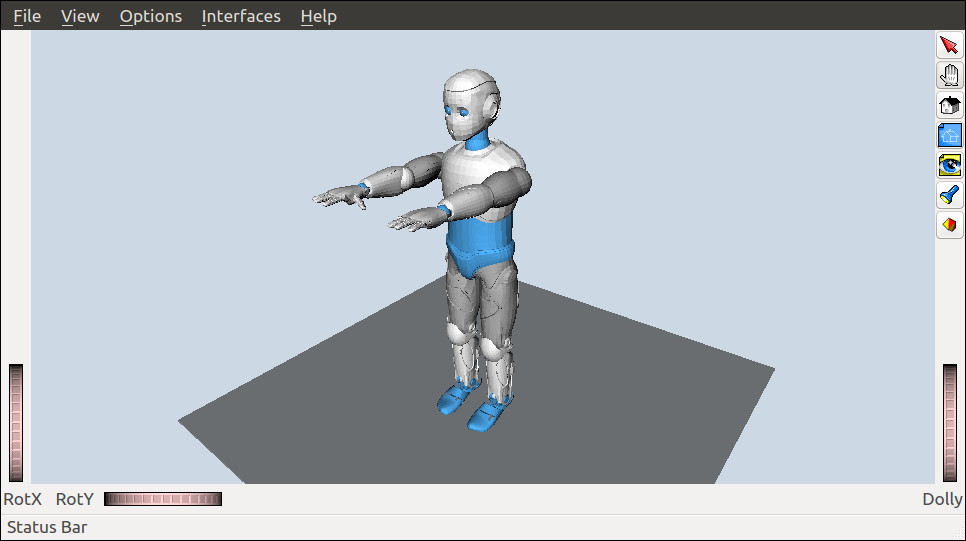 Romeo humanoid model in OpenRAVE