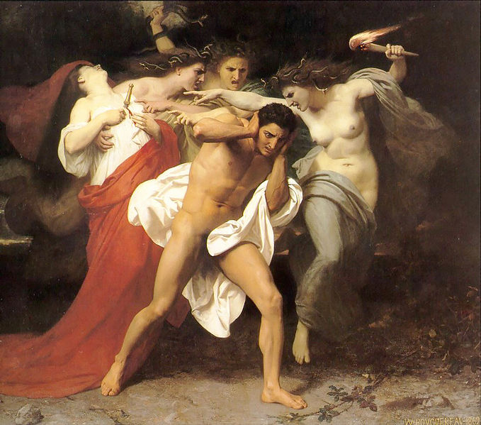 William-Adolphe Bouguereau - Les Remords d'Oreste
