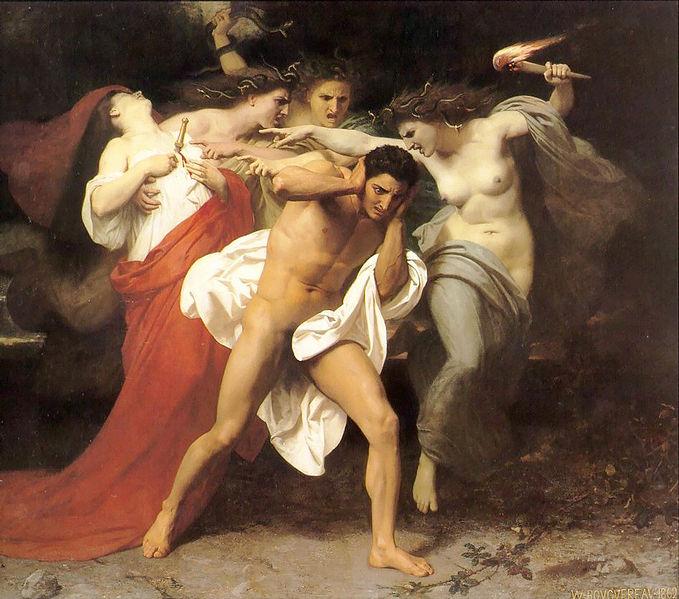 William-Adolphe Bouguereau - Les Remords d'Oreste