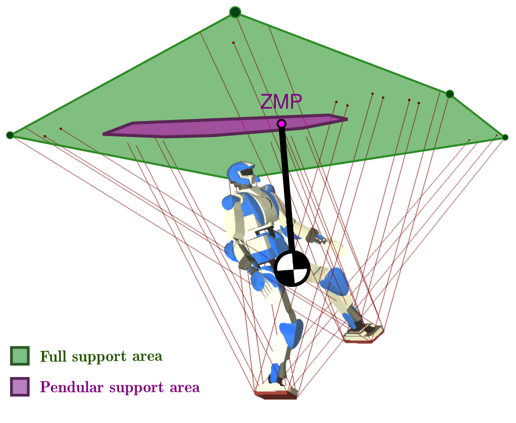 Two kinds of ZMP support area